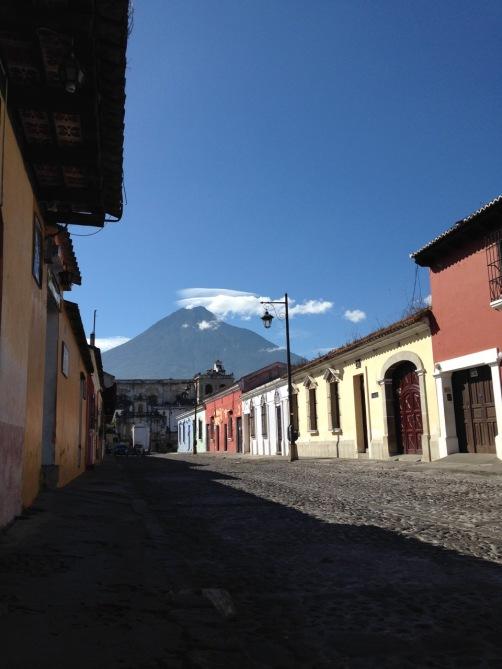 guatemala_antigua_streetvolcanoview